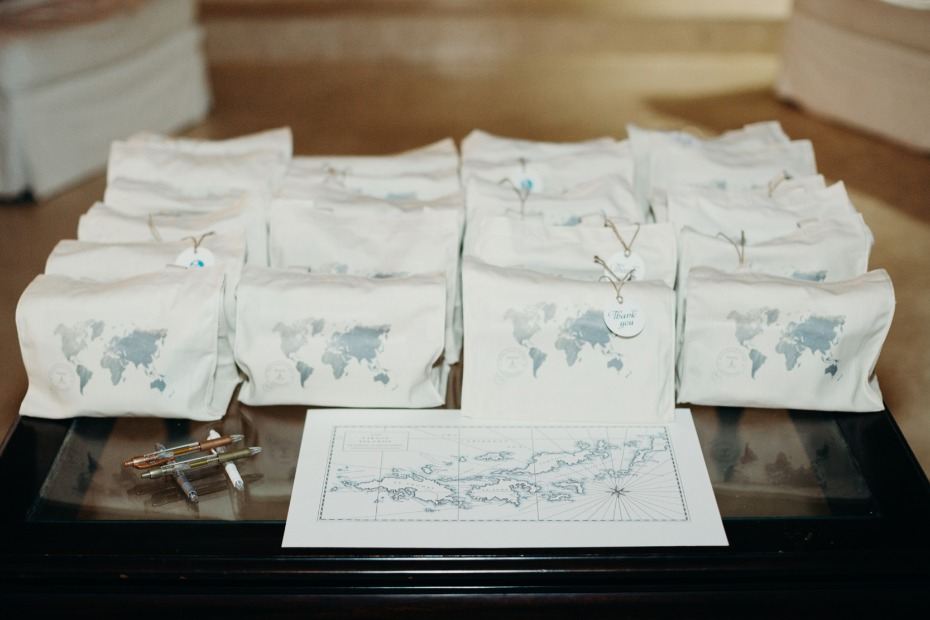 World map wedding favors