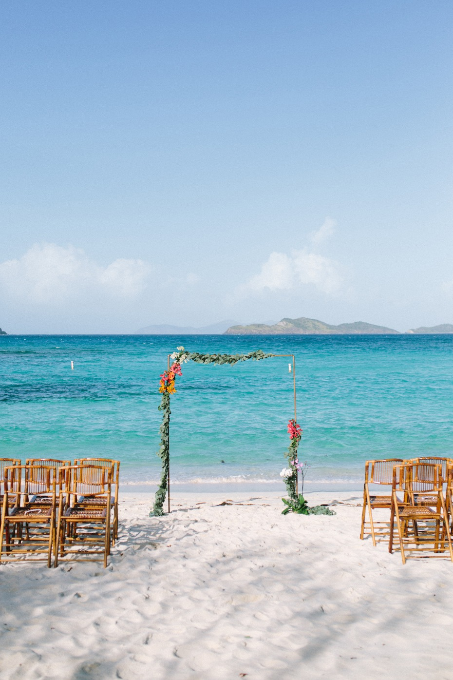 Beach ceremony in the Virgin Islands