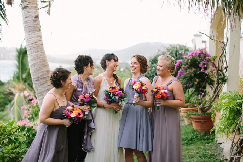 Mix and match lavender bridesmaid dresses