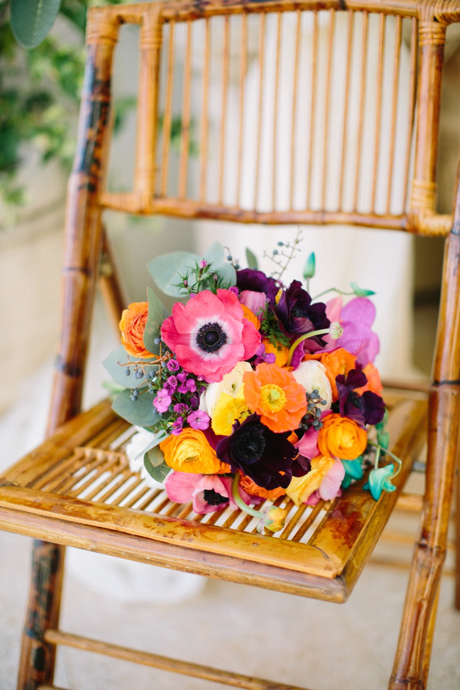Small and colorful wedding bouquet