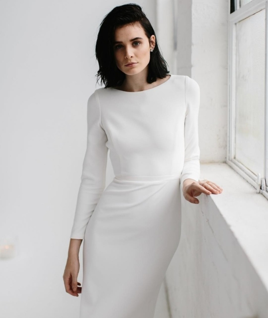 KWH Bridal Long Sleeve Dress