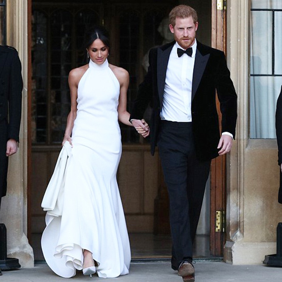 13 Gorgeous Gowns to Get Meghan Markle's Chic Reception Look