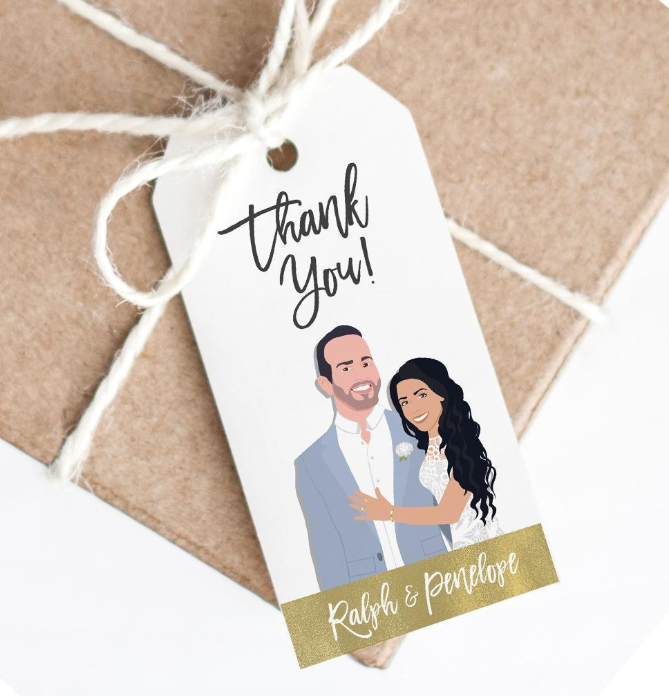 If you're anything like us, you think down to the very last detail, and that includes favor tags!! These amazing tags from Miss Design