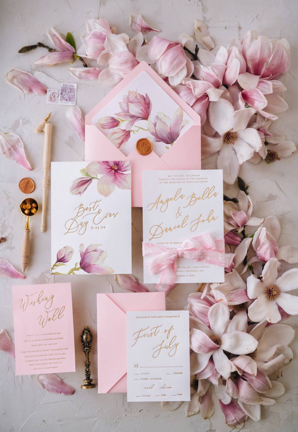 Blossom wedding invitation for your Best Day Ever!