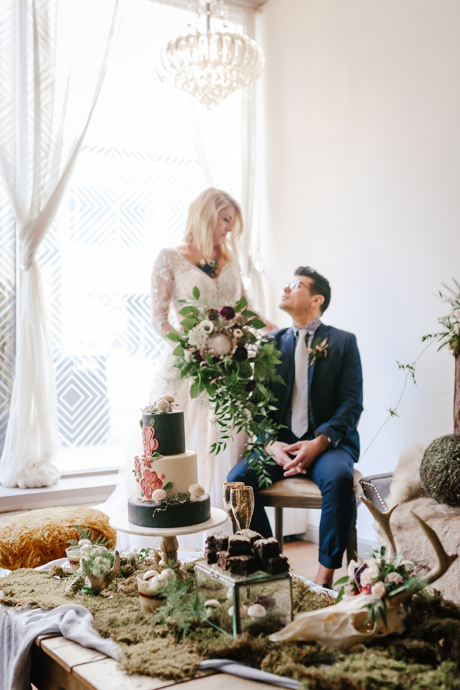 romantic urban wedding fairytale