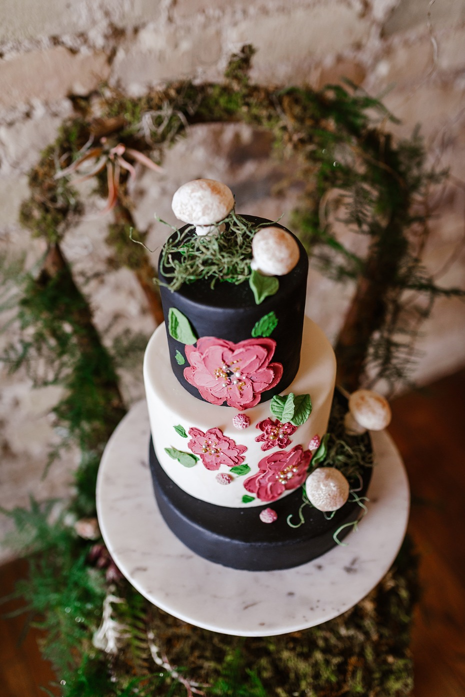 whimsical wedding cake idea