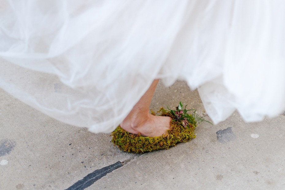 moss wedding shoes