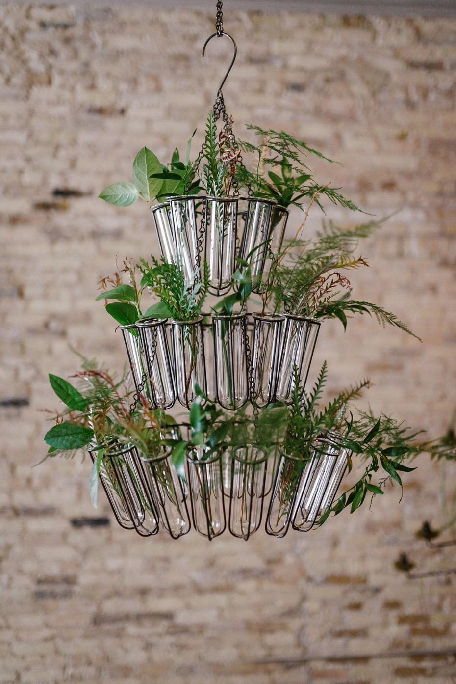 bud vase wedding chandelier