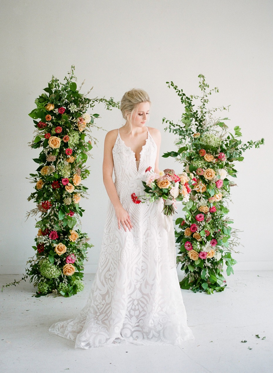 elegant floral forward wedding decor