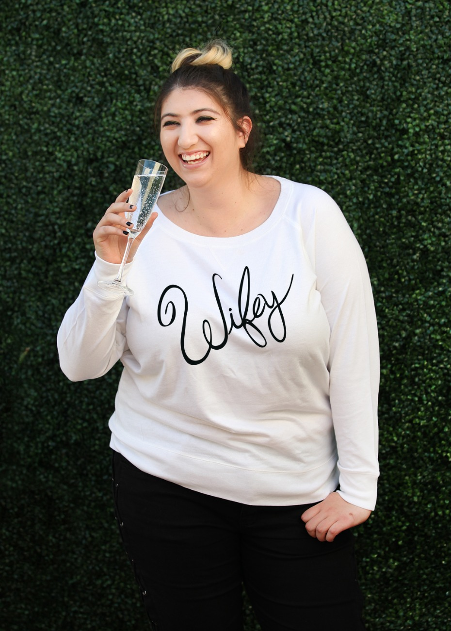 Plus Size Wifey T-shirt