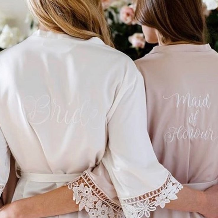 Looking for that extra special touch for your wedding day? Add personalisation to your wedding robes with our bespoke embroidery service