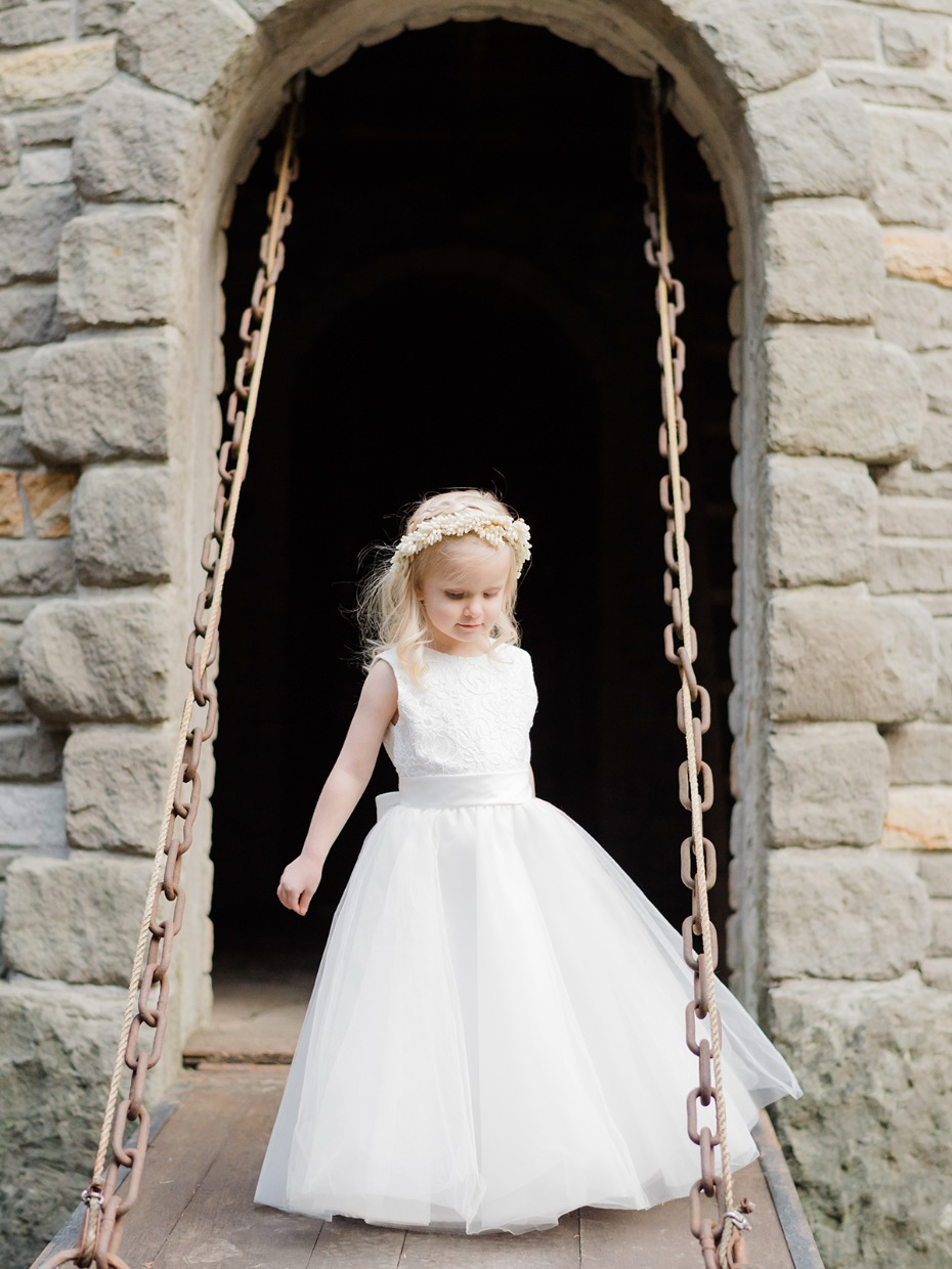 cute little classic flower girl style