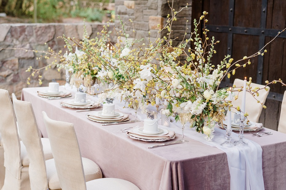 wild and elegant wedding centerpiece idea
