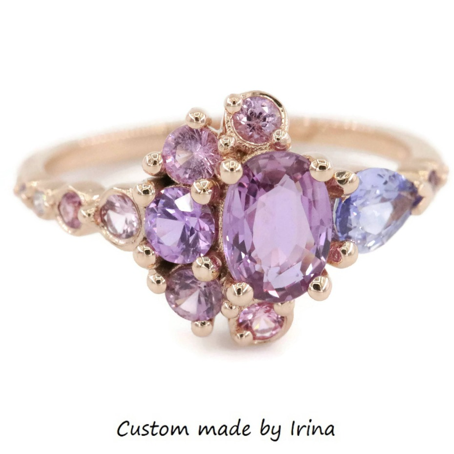 rose-gold-sapphire-cluster-ring