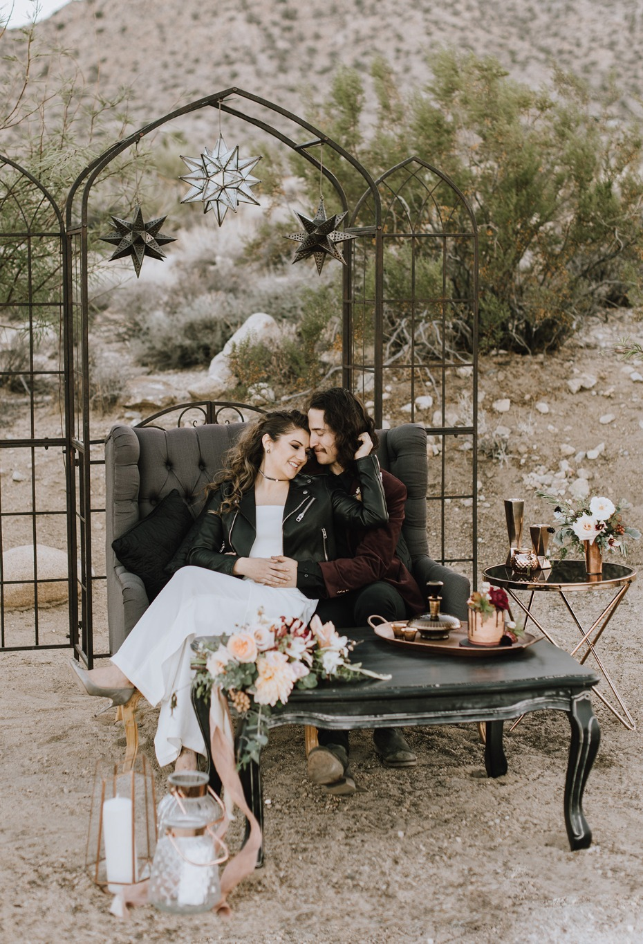 minimalist hip and eclectic wedding design