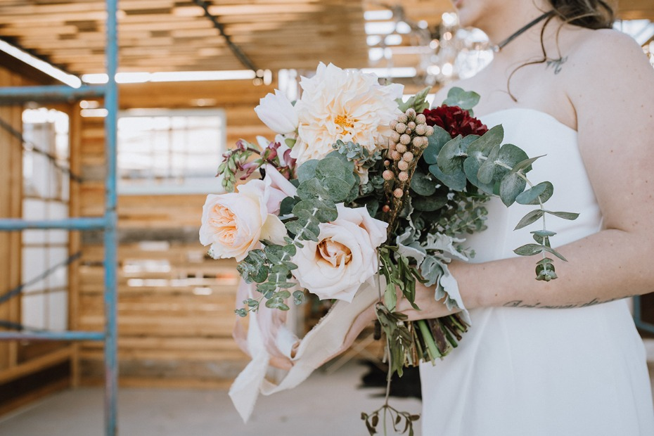 sweet and romantic wedding bouquet