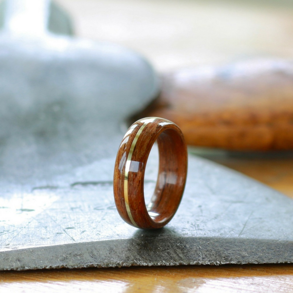 The most unique men's wedding ring. The perfect wedding ring for the outdoorsman. This bentwood ring is handcrafted out of koa wood