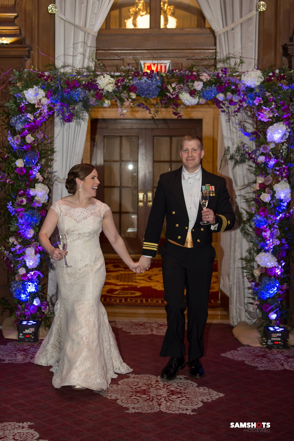 Romantic and classic military wedding