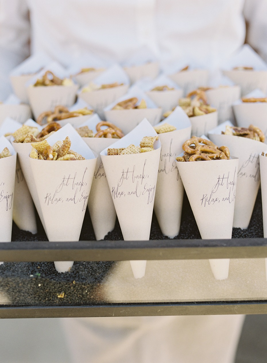 Snack cones for the ceremony