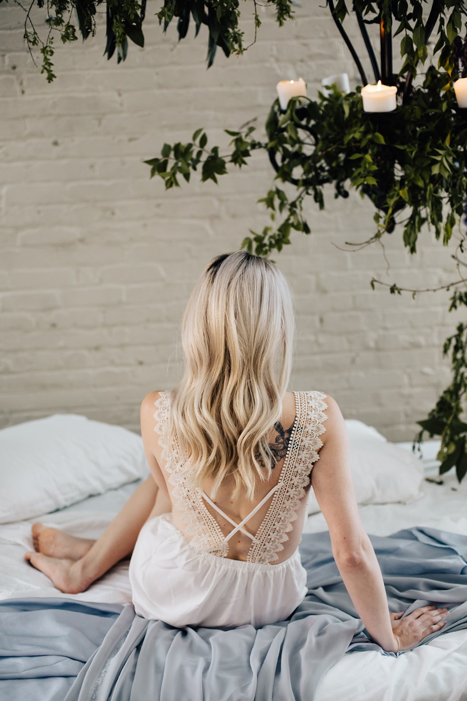 lace backed wedding romper
