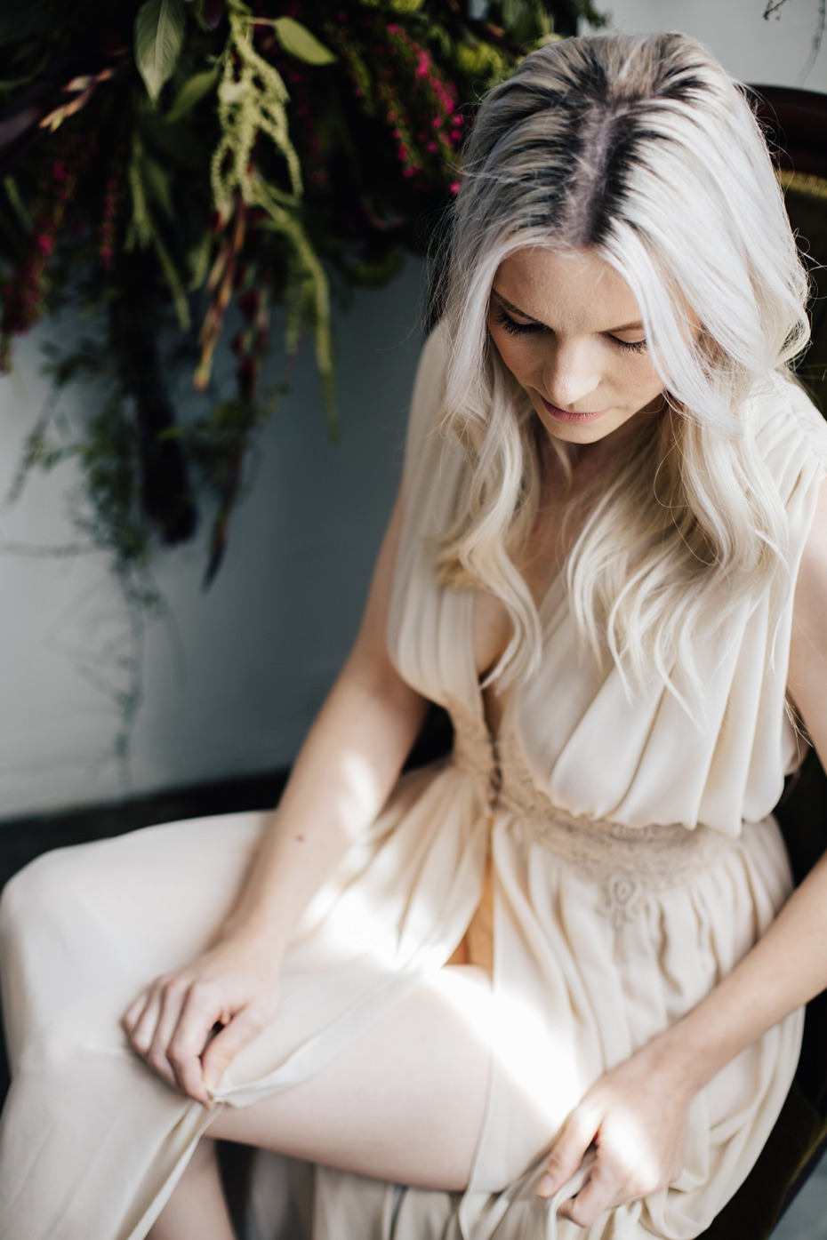 elegant night dress from BHLDN