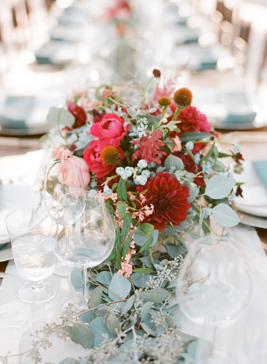 romantic and rustic centerpiece