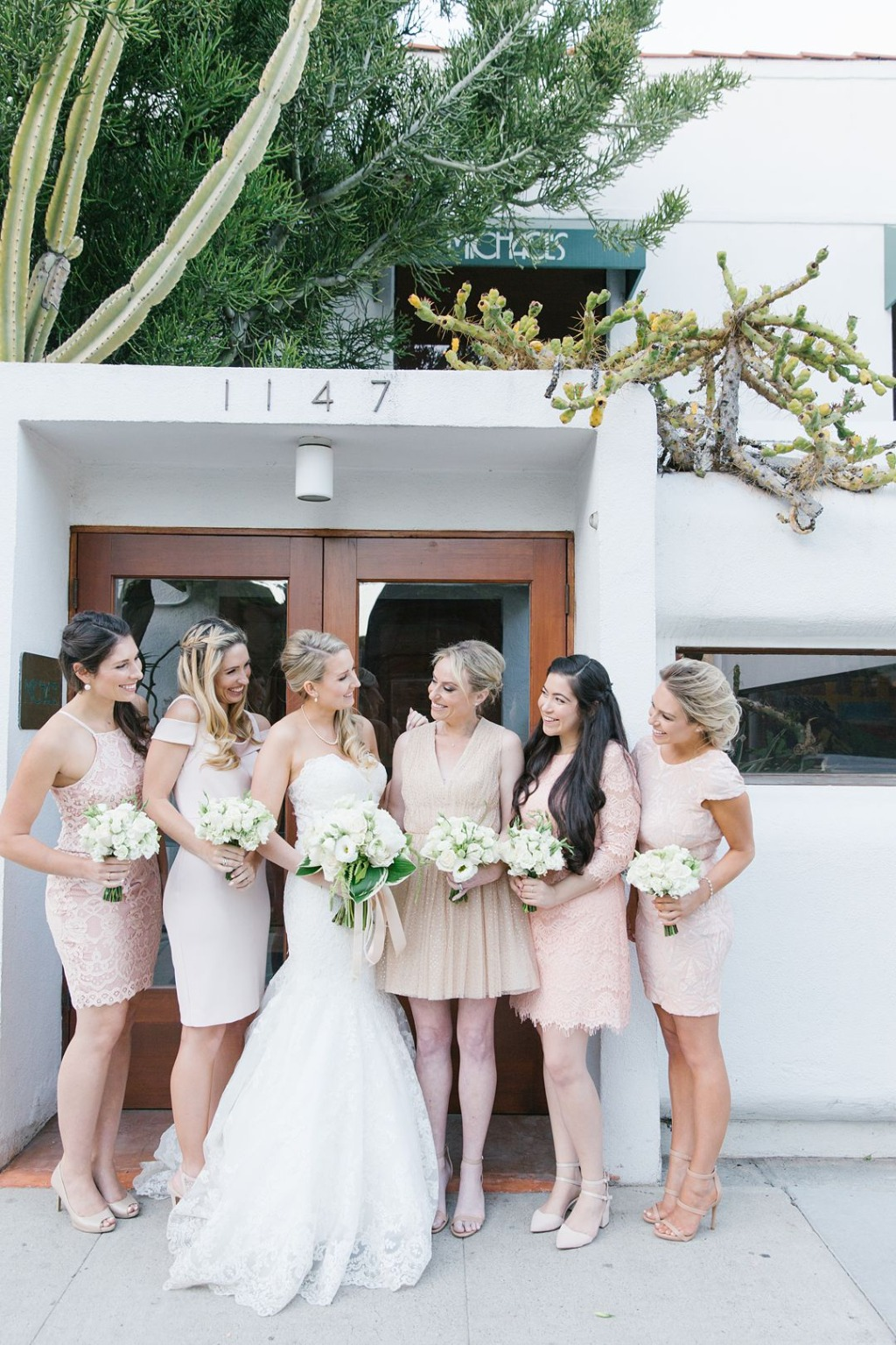 Soft blush tones made for a gorgeous color palette at this Santa Monica wedding!