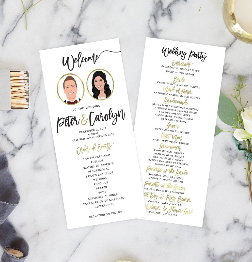 Let's talk about programs!! From your ceremony to your reception, programs really lay out your whole wedding day for your guests! With
