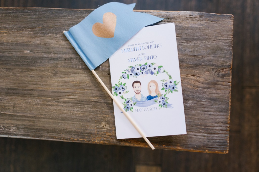 Personalized ceremony programs made a statement at this Carondelet House wedding! Click link to see more from this day.