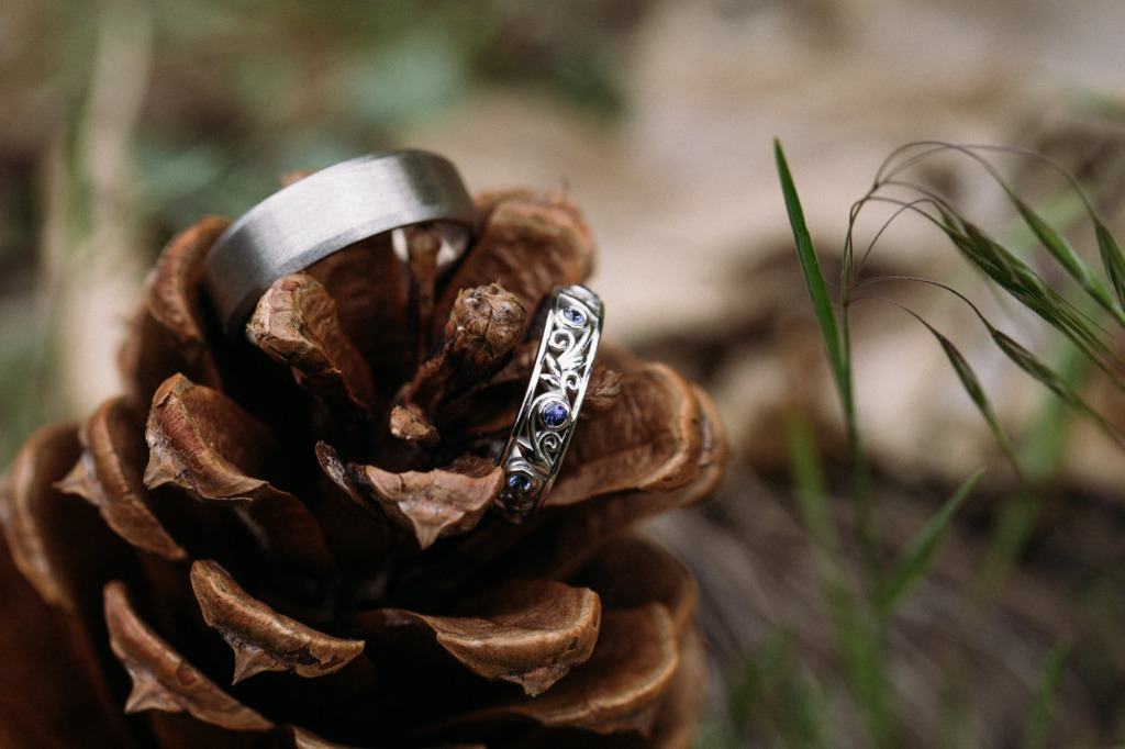 Rustic Wedding rings that are created for you.