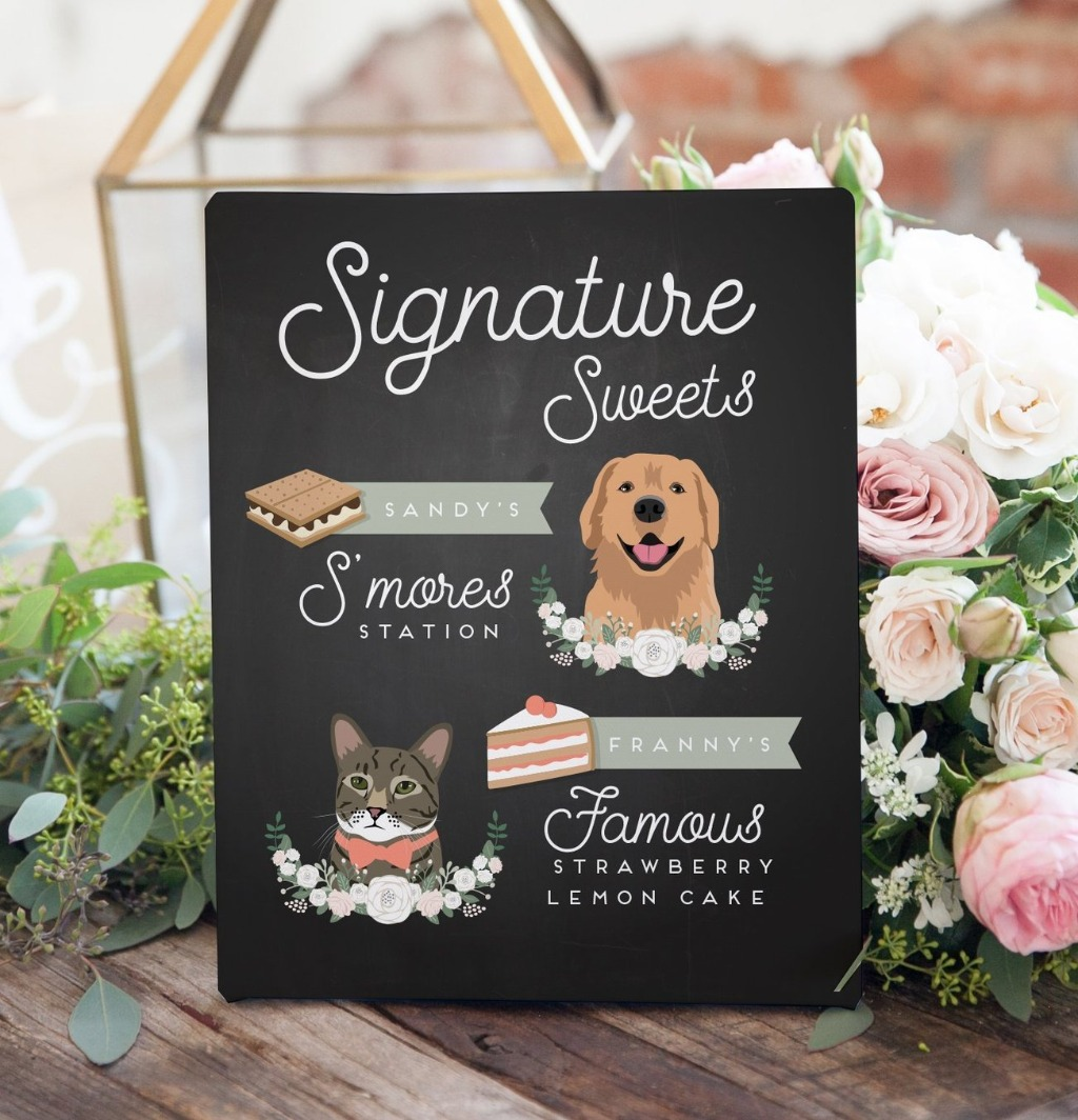 We know not everyone is into Signature Drinks or Cocktails, but everyone LOVES a good dessert!! This Signature Sweets Sign from Miss
