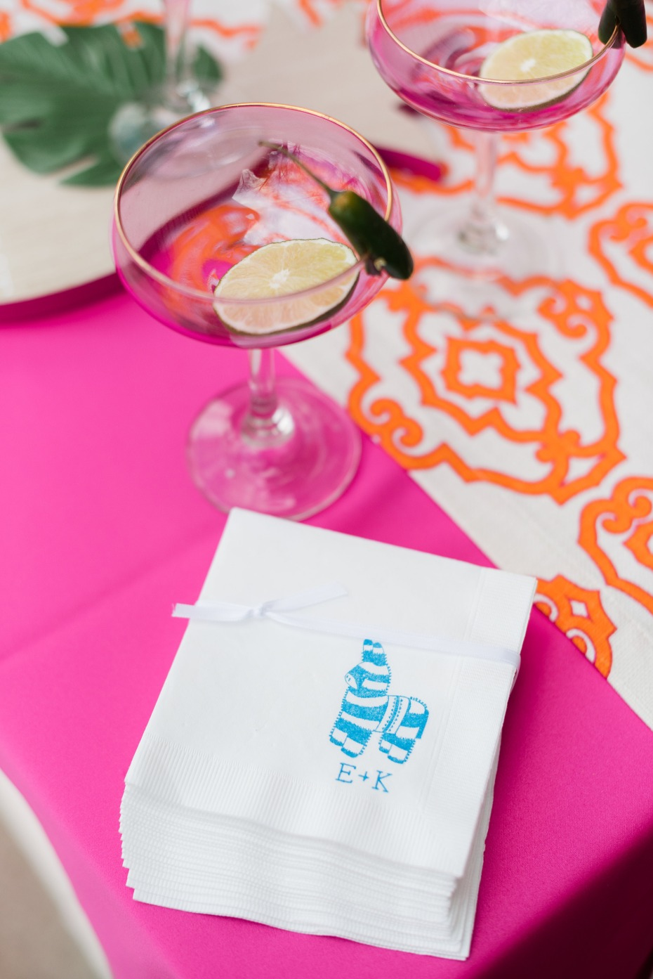 margaritas and cocktail napkins