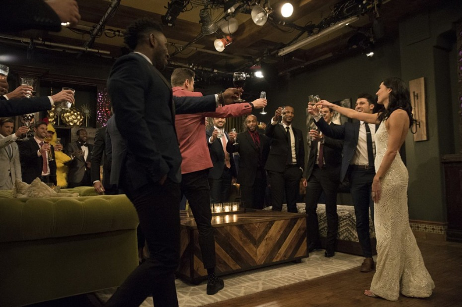 The Bachelorette Becca Kufin Toast on First Night