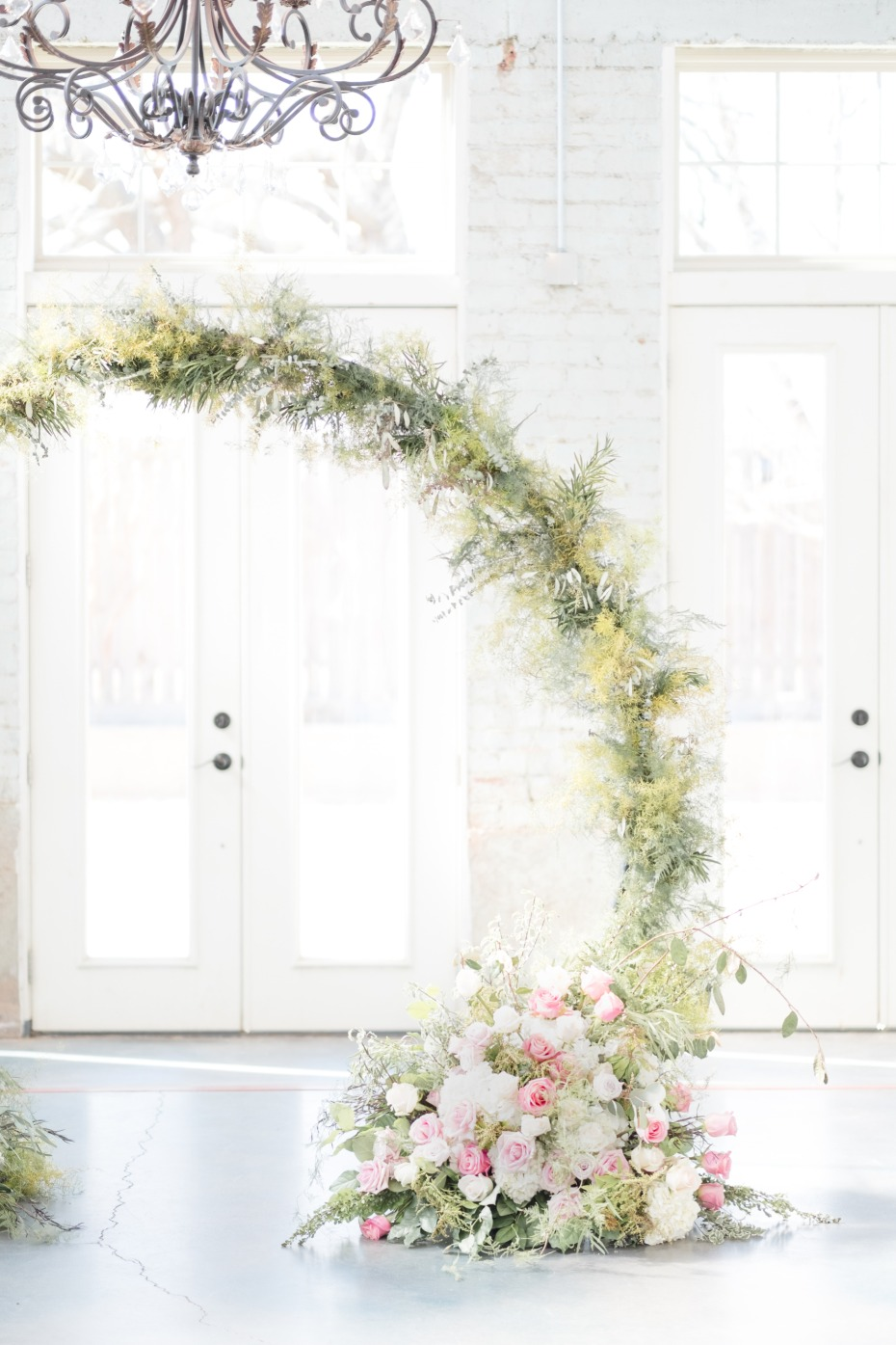 floral archway idea for your ceremony