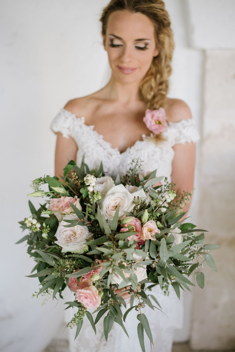 Muted blush bouquet