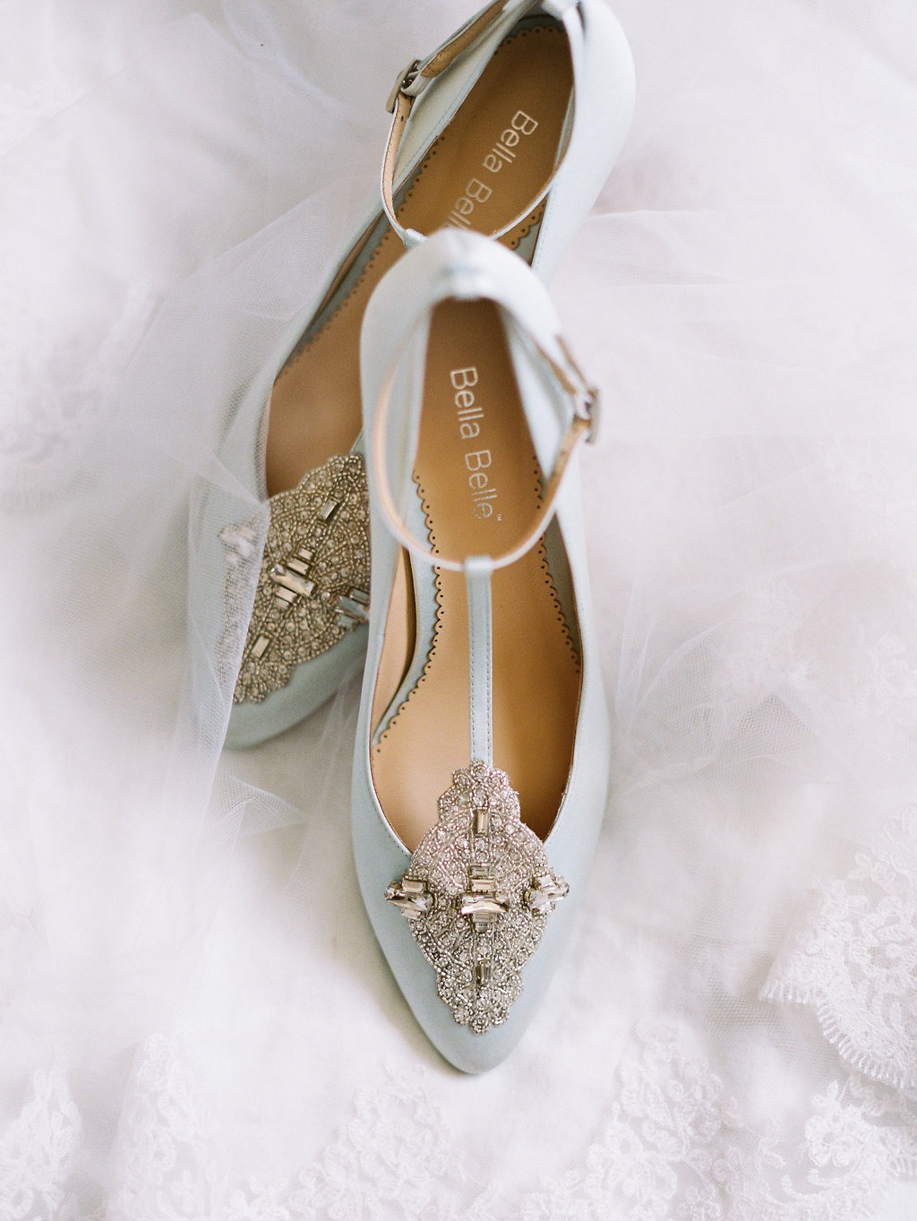 A 'something blue' and 'something new' addition to your wedding attire, featuring a Great Gatsby inspired low heel kitten heel wedding