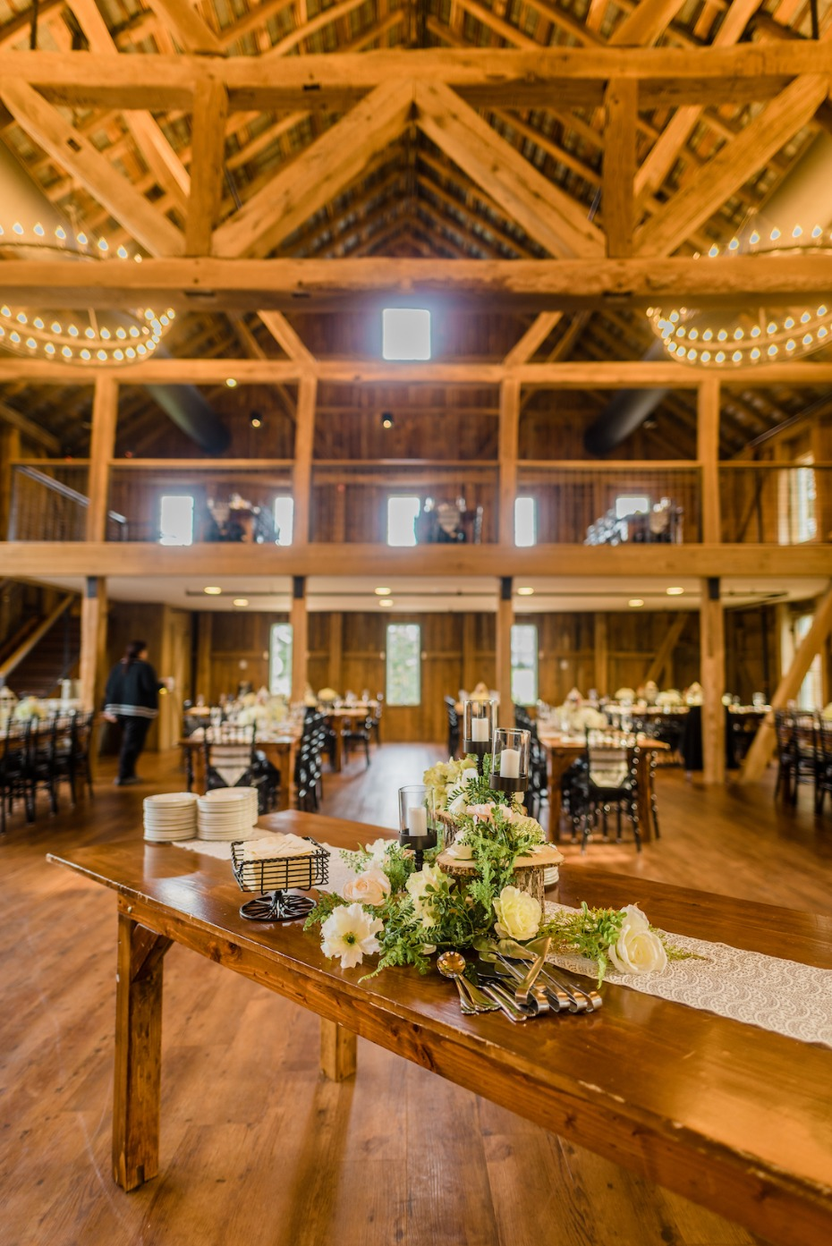 Giant barn reception space