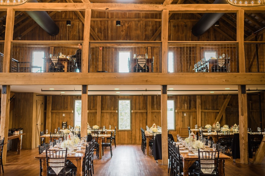 Huge barn reception