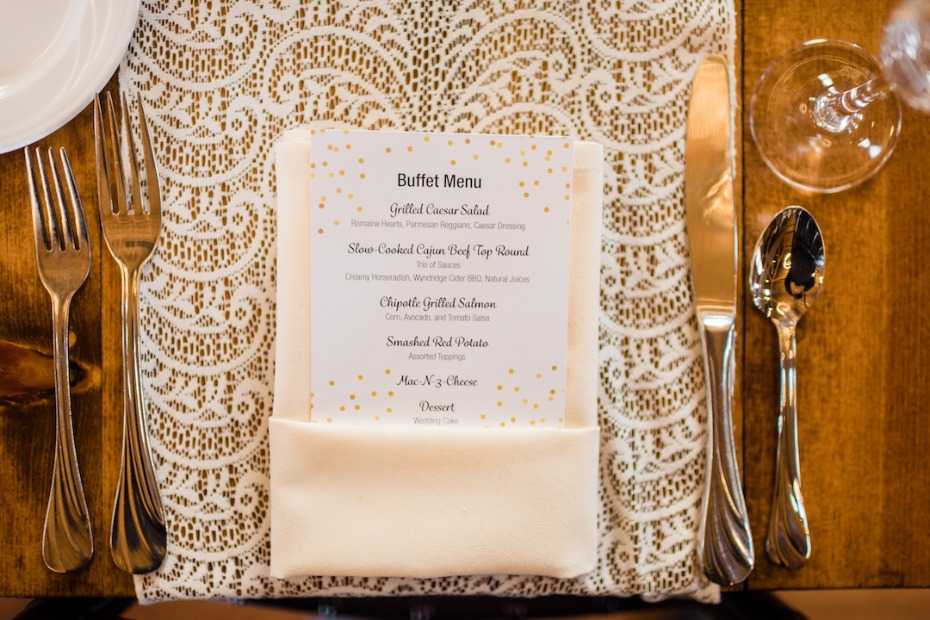 Lacey place setting