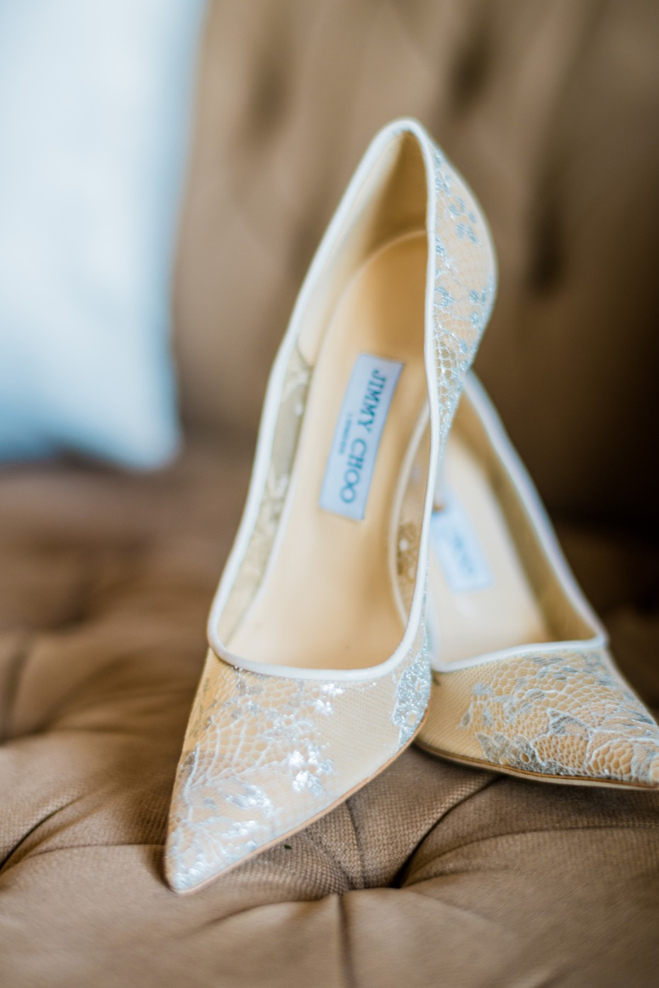 Lace Jimmy Choo heels