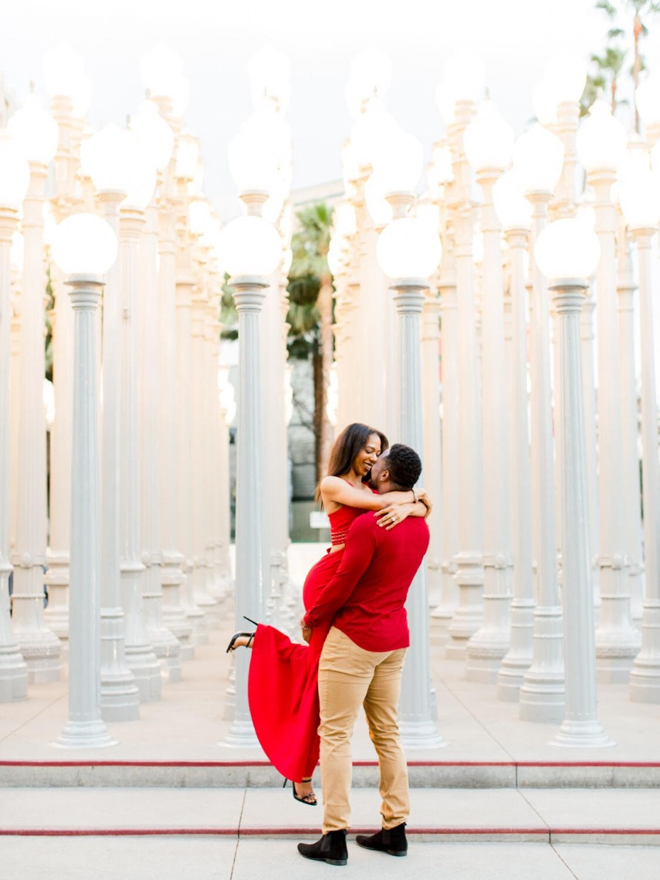 Surprise proposal in Los Angeles