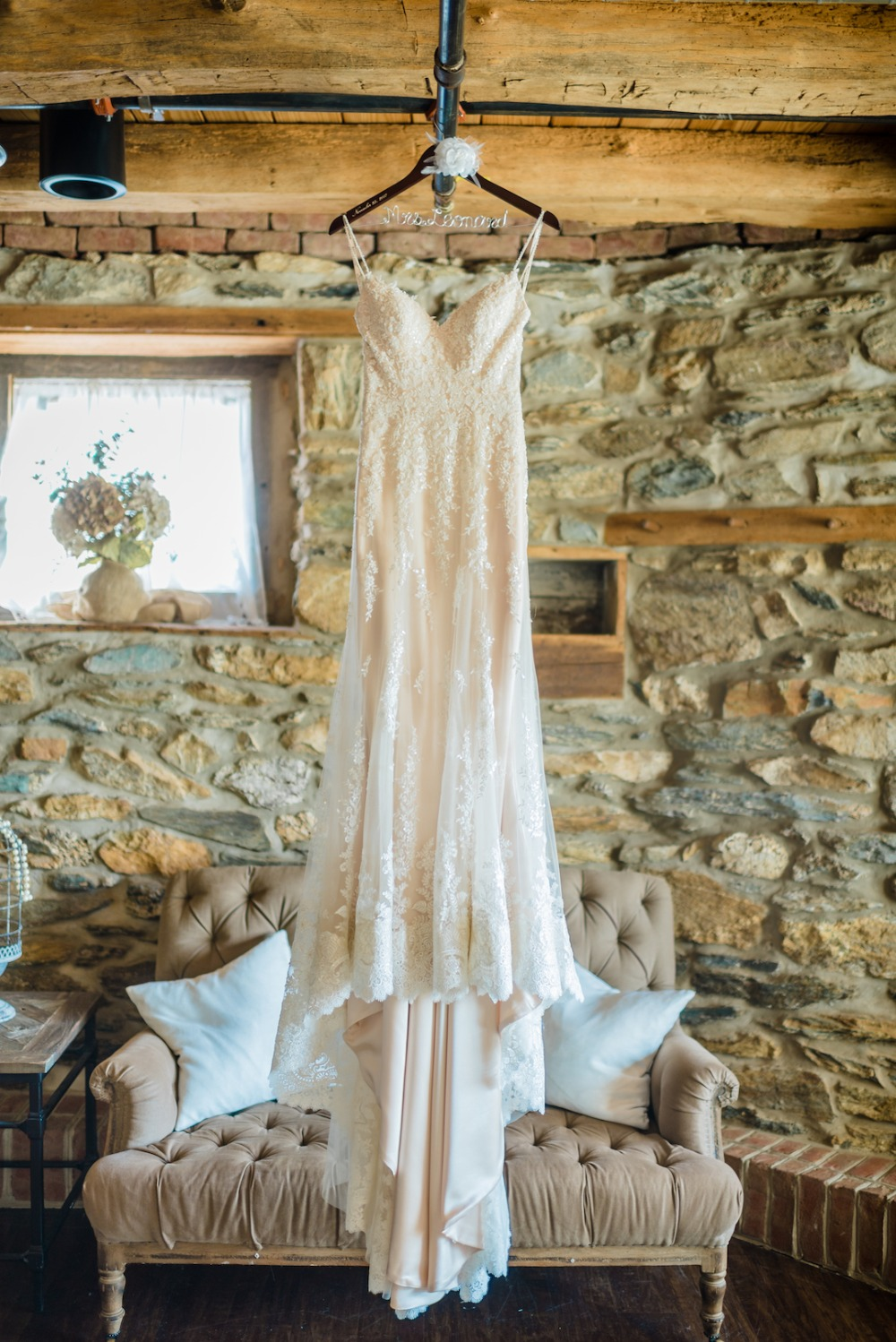 1 84 Blush And White Rustic Farm Wedding