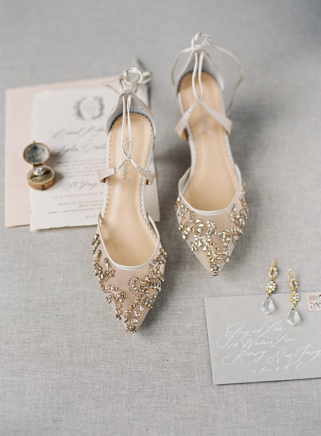 Frances Champagne kitten heel is prettiness filled with sparkling champagne crystals and comfort. See more at @bellabelleshoes