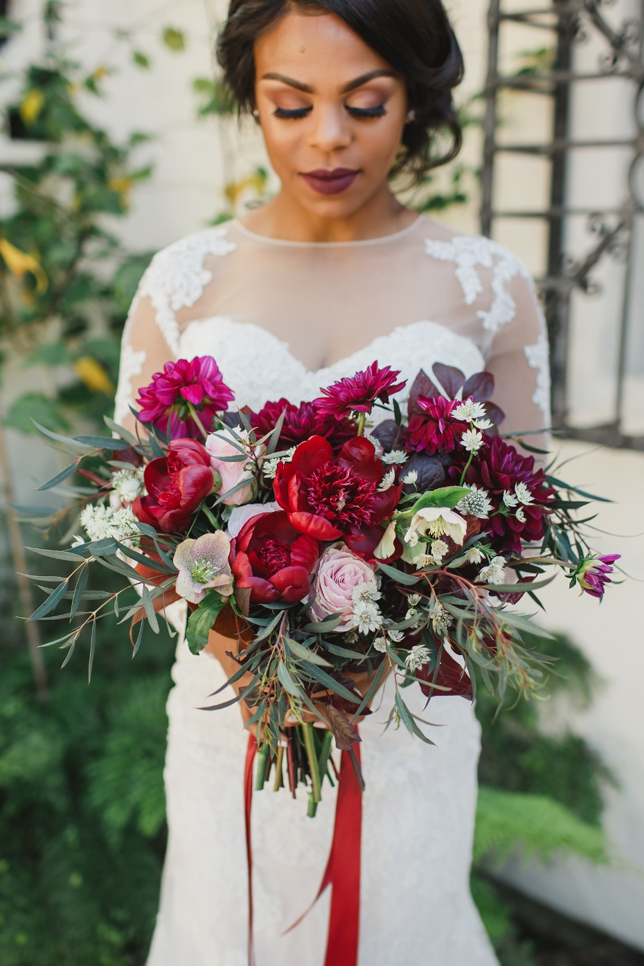 Gorgeous deep red bouquet