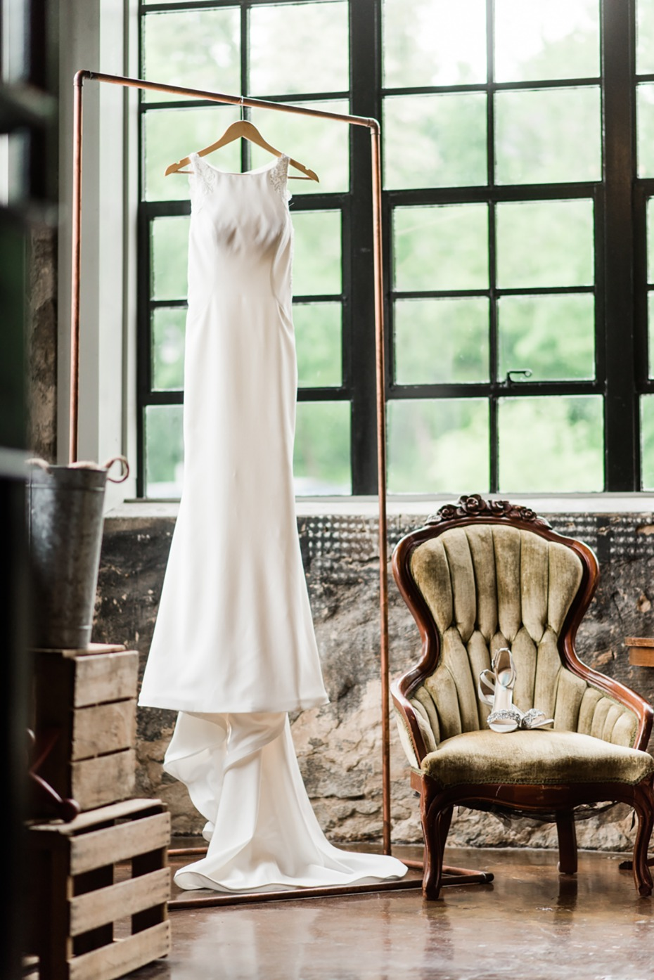 simple chic and glam wedding dress