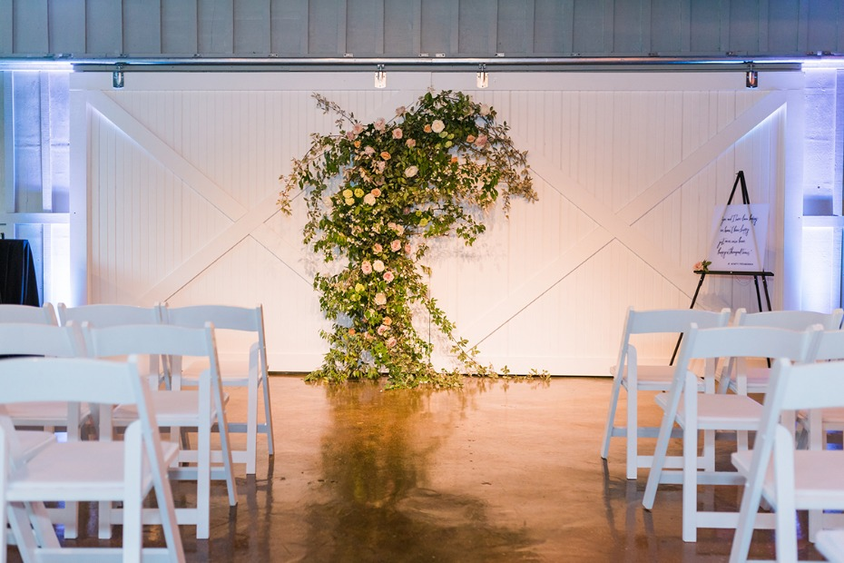 asymmetrical wedding backdrop idea