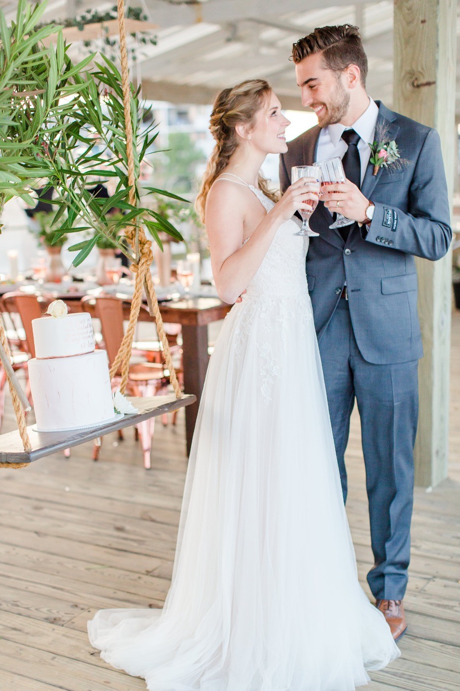 Cheers to this beach wedding inspo