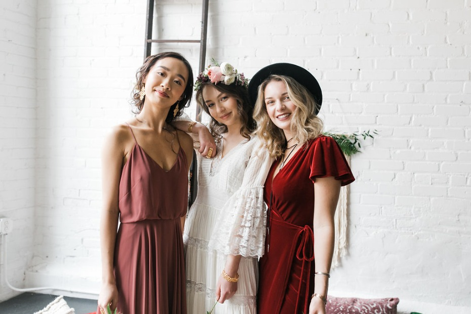 Cute boho bridal shower with DIY bourbon bar