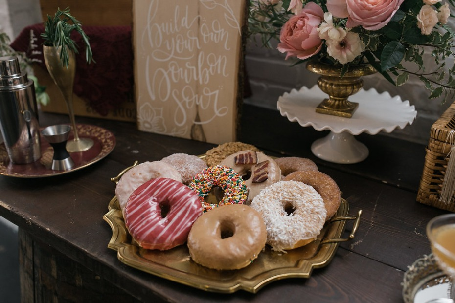 Donuts for a bridal shower