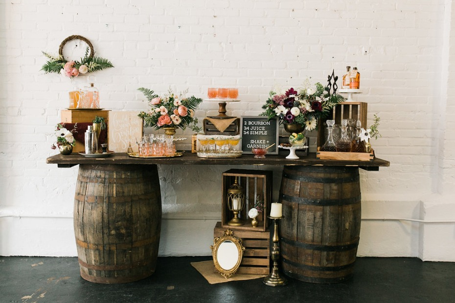 DIY bourbon bar idea